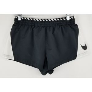 Nike Black & White Dri-Fit Running Shorts Size Sm